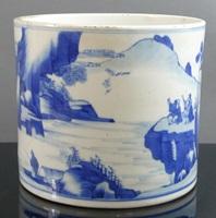 Qing dynasty brush pot