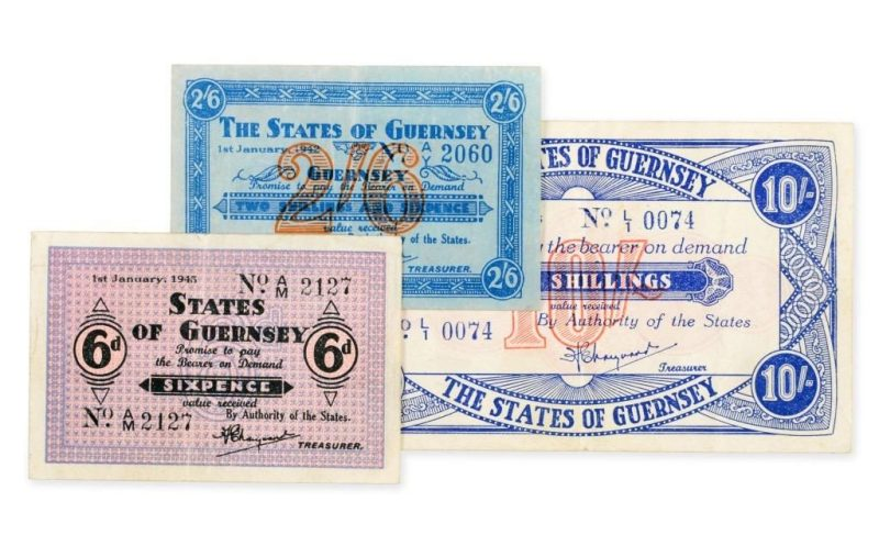 World War II Guernsey banknotes