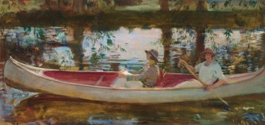 Alfred Munnings White Canoe