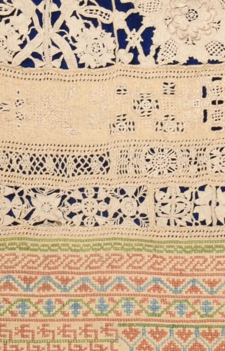 Antique Quaker Sampler Detail