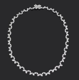 Asprey gold and diamond necklace