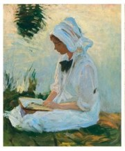 John Singer Sargent's Girl reading by a stream