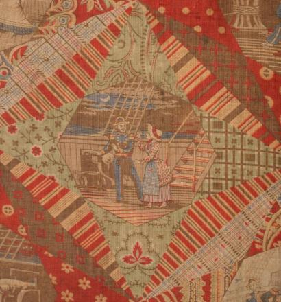 Detail of antique military quilt