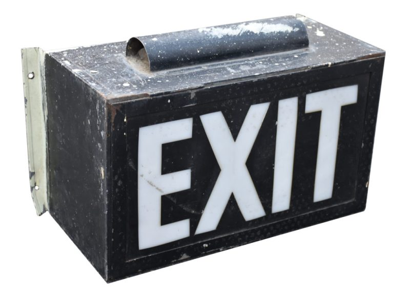 Marquee Club exit sign