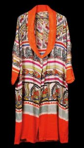 British avant-garde silk robe