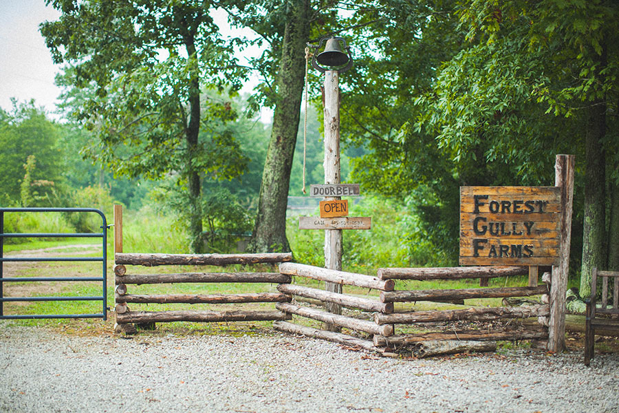 Front gate of Forest Gully Farms