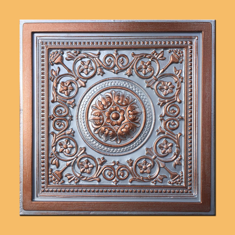 24 x24 majesty silver copper pvc 20mil ceiling tiles best seller