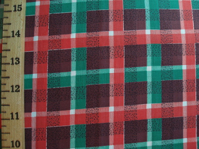 Brown Plaid Decorator Fabric