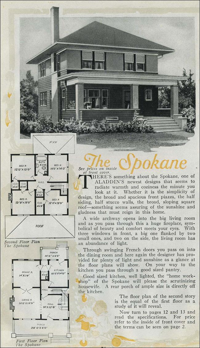 1920 Houses Prairie Box Aladdin Kit Home Pyramidal