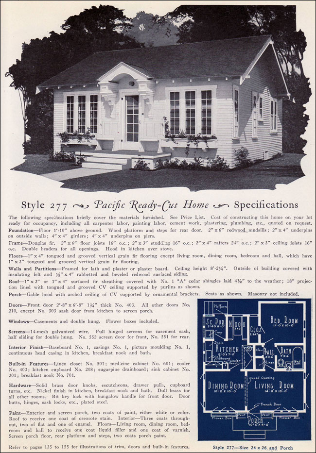 1925 Pacific Ready Cut Homes California Cottage