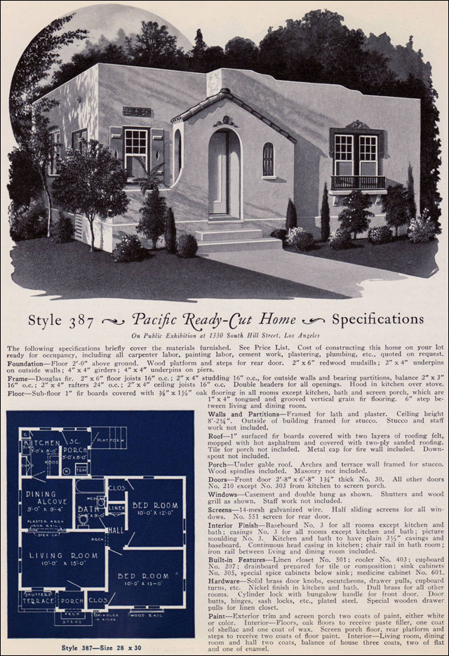 1925 Eclectic Spanish Style California Cottage Pacific