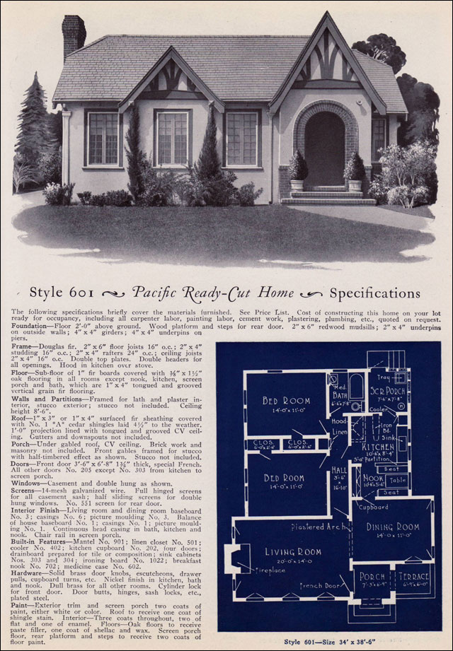 1925 Pacific Ready Cut Homes Modern English Eclectic