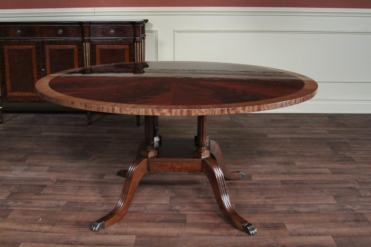 60 Round Flame Mahogany Dining Room Table By Hickory Chair