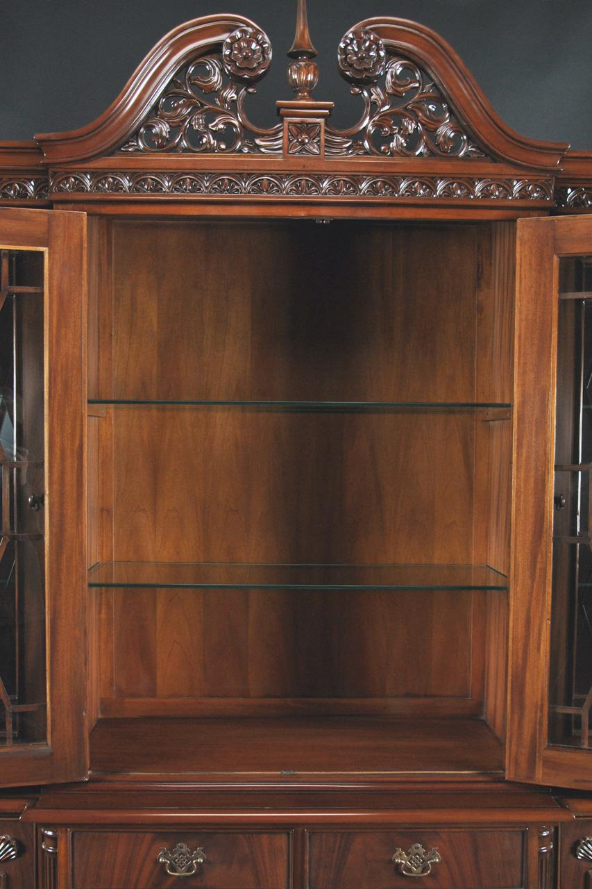 Ball And Claw Flame Mahogany China Cabinet