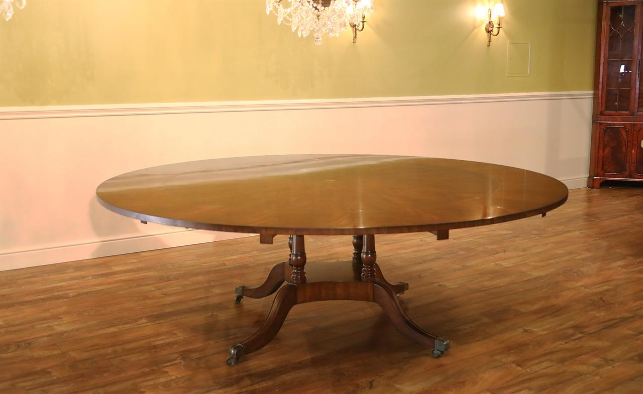 Tables Dining Large Round Leaves Room