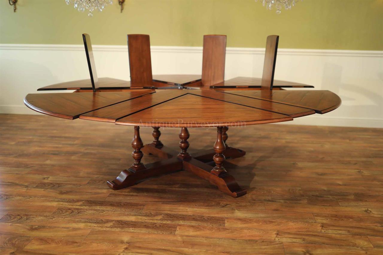 Extra Large Round Dining Table Seats 12 AntiquePurveyor