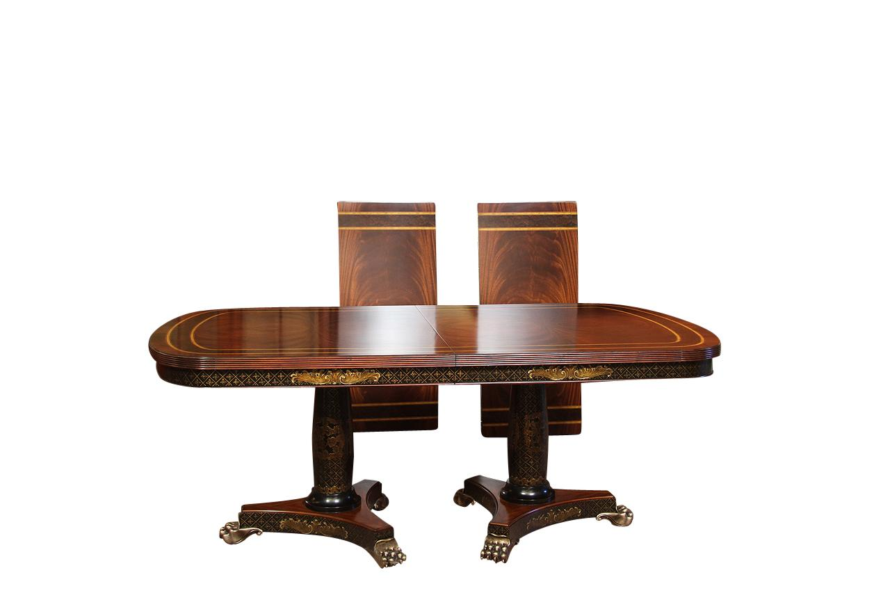High End Mahogany Dining Room Table With Chinoiserie And