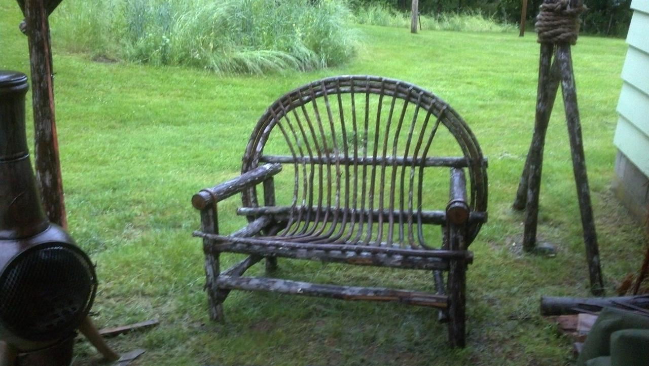 rustic outdoor furniture 4 pc patio set cracker twig