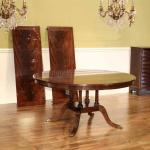 Custom American Made 60 Inch Round Mahogany Dining Table