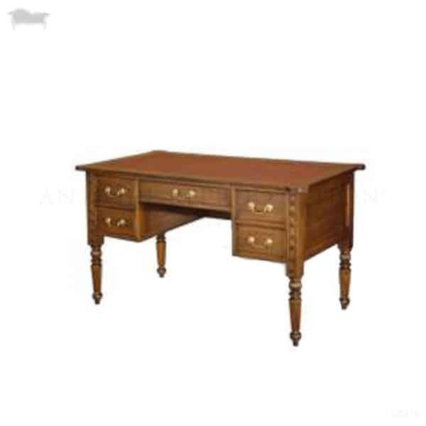 Colonial California Reproduction Desk 5 Draw Antique