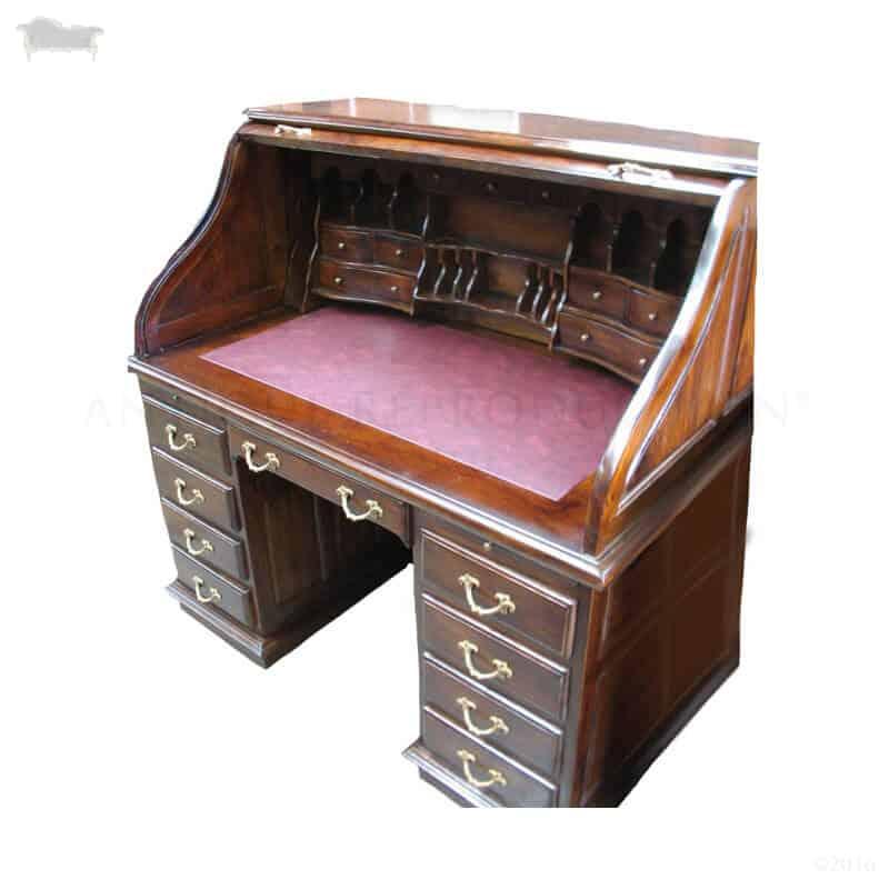 Roll Top Desk American Replica Antique Reproduction