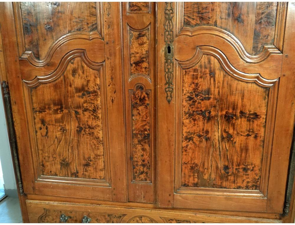 Armoire Wood Wardrobe Cherry