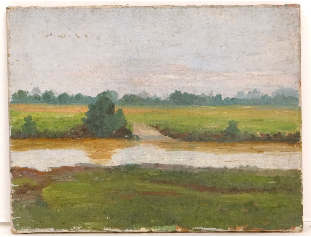 hst tableau paysage campagne bord loire