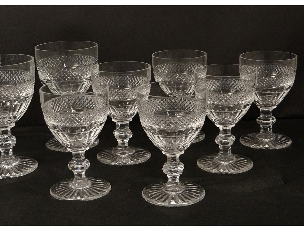 All 18 Crystal Stemware St Louis Trianon Tips Nineteenth