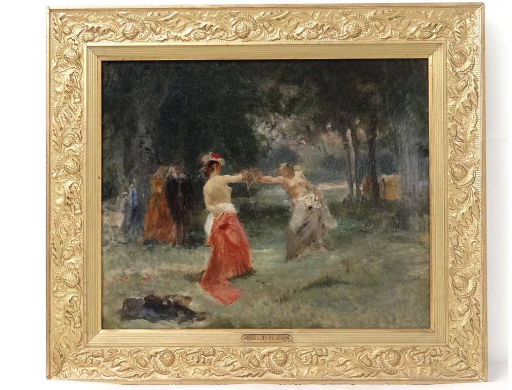 Hst Tableau Paysage Femmes Duel 233 P 233 E Emile Bayard Cadre