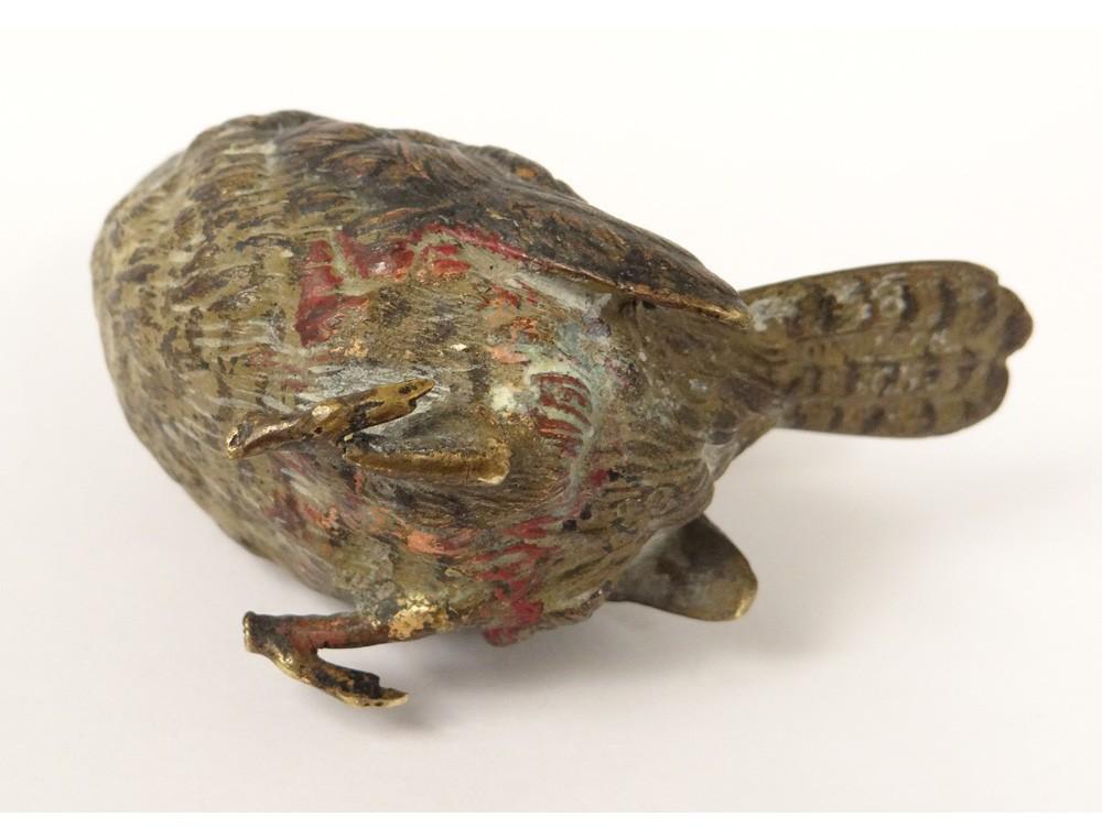 Sculpture Figurine Bronze De Vienne Oiseau Autriche Sign XIXme Sicle