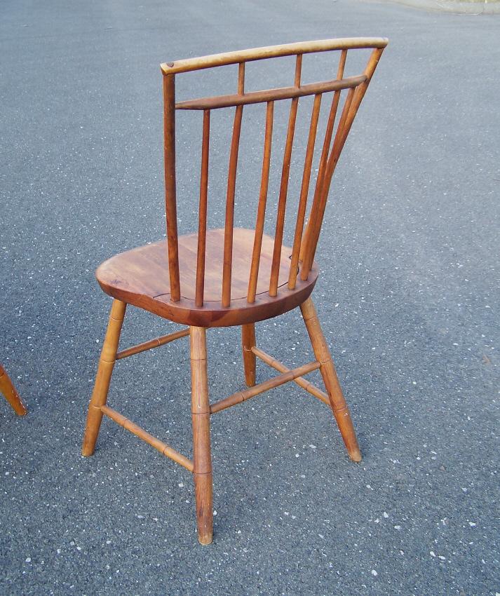 8121 Set Of Four Harrison G Otis Birdcage Windsor Chairs