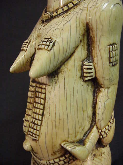 Large African Ivory Sculpture Of A Noble Baule Woman For