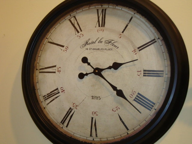 French Wall Clock Hotel La Fleur For Sale Antiques