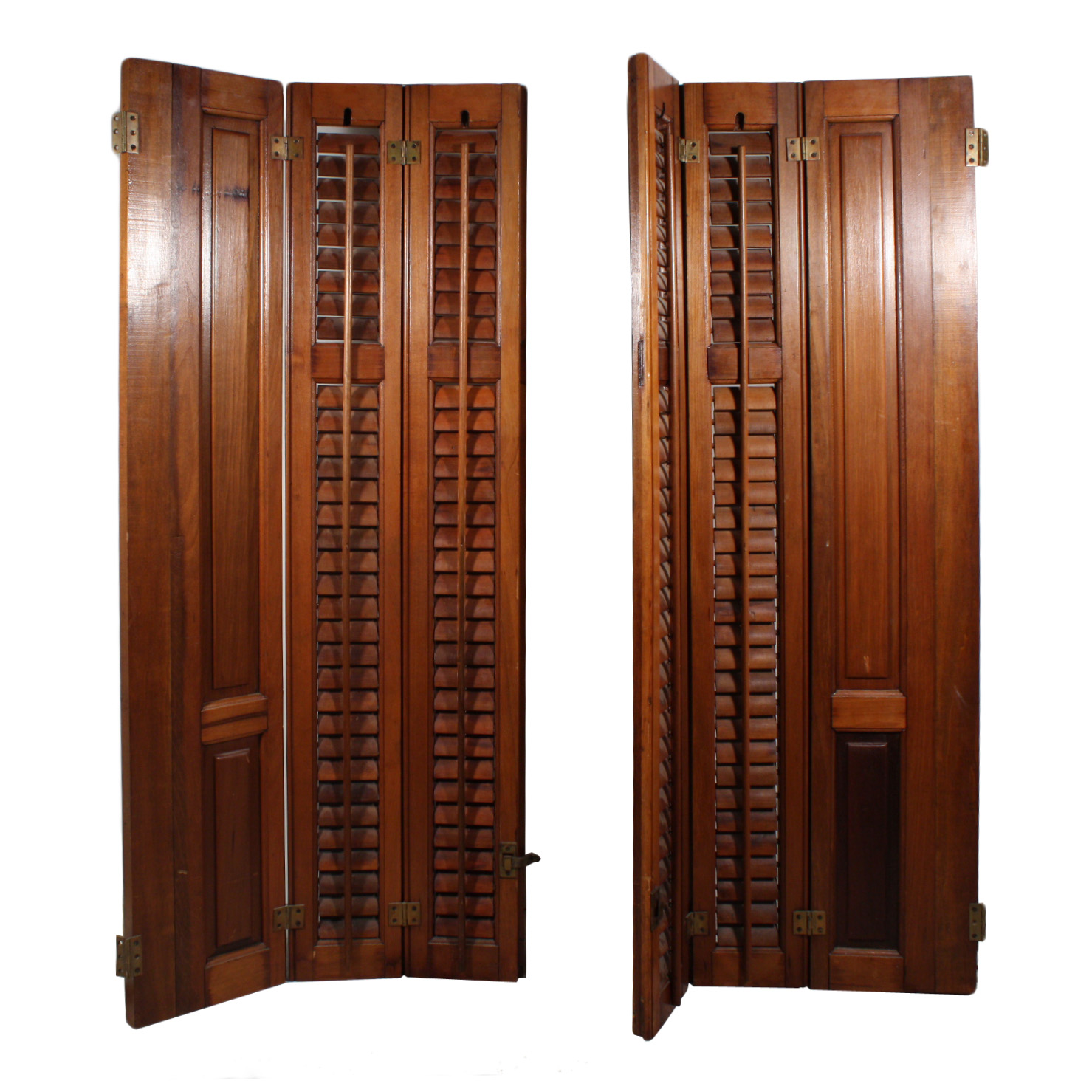 Lovely Antique Interior Wood Shutters Early 1900 S Nshr5 Rw
