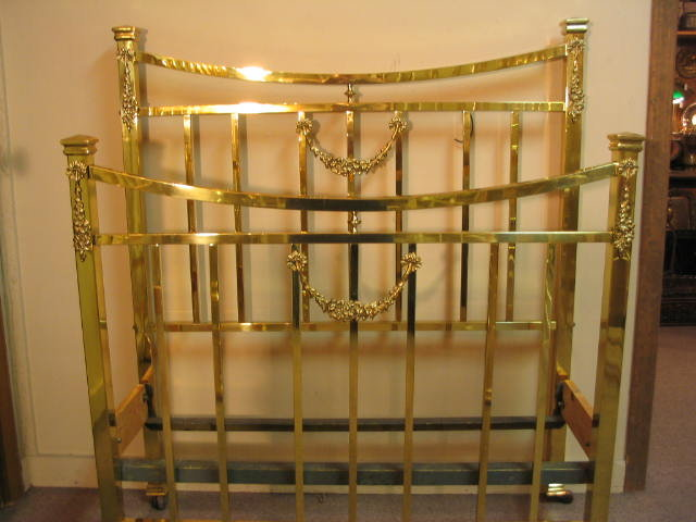 Brass Bed Twin Size Early 1900s For Sale