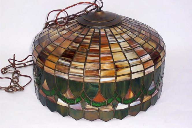 Colorful Tiffany Style Chandelier Shade W Light Sockets For Antiques Classifieds