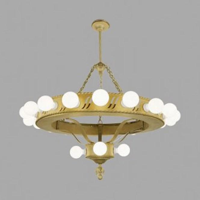 Large Bare Bulb 1920s Chandelier Antique Commercial Light Fixture Ant 454 For