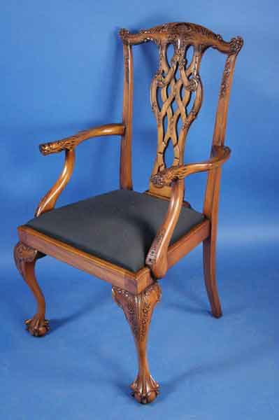 English Mahogany Chippendale Dining Chairs For Sale Classifieds
