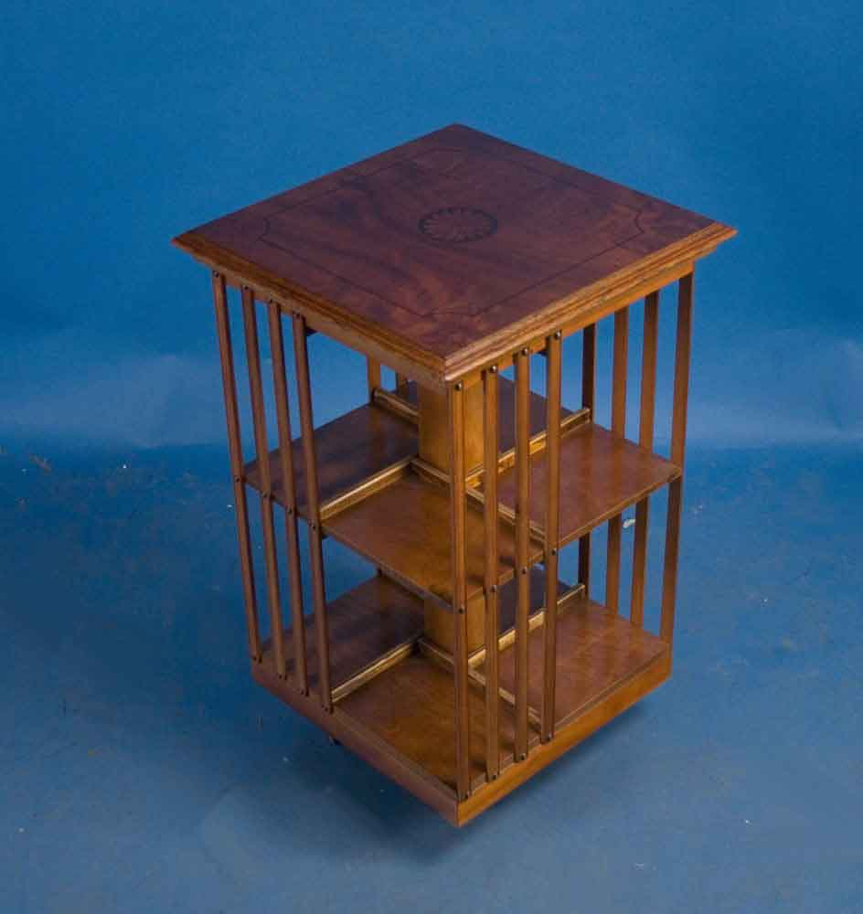 English Walnut Revolving Bookcase For Sale