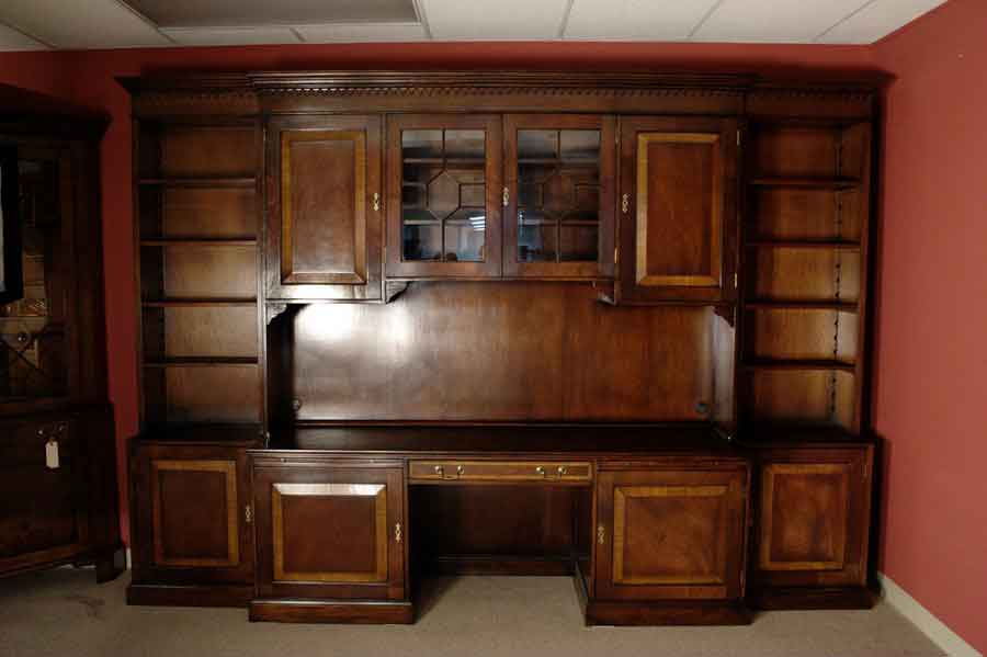 Mahogany Credenza With Hood Amp Bookcase For Sale Antiques