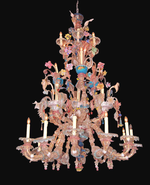 This Large Rare Outstanding Antique Venetian Murano Chandelier Is Truly Stunning Measuring 73 Inches High And 48 Wide It Massive Sure To