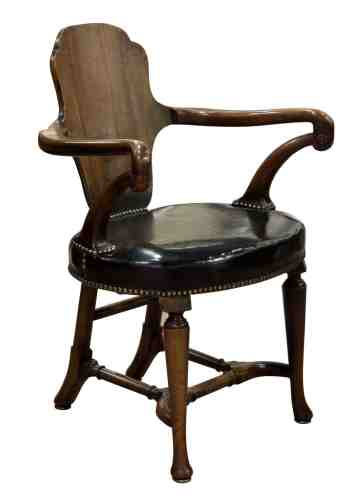 Walnut Shepherds Crook Desk Chair C1840 60 In Antique Desks Secretaires