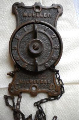 Antique Cast Iron Mueller Milwaukee Furnace Or Stove