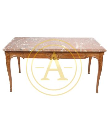 RARE ET GRANDE TABLE A GIBIER QUATRE FACES REGENCE