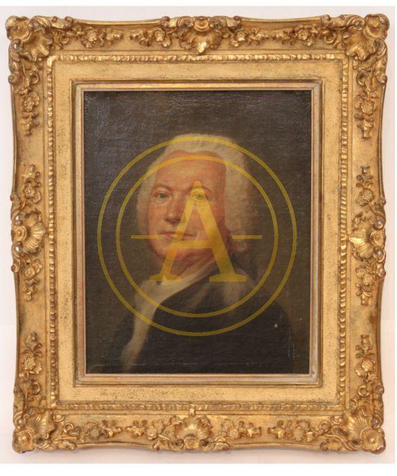 PORTRAIT D'HOMME DE QUALITE ECOLE XVIIIe