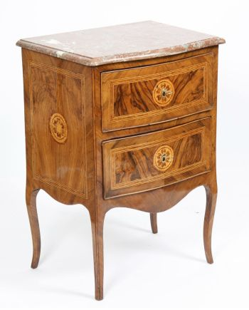PETITE COMMODE ITALIENNE D' ENTRE DEUX XVIIIè
