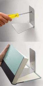 Brackets, book shelf, book ideas