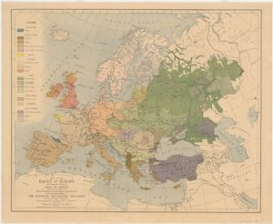 Europe map, old map, antique map