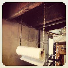 paper towel holder, bike chain, bike chain ideas