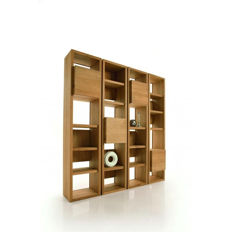 bibliotheque modulaire contemporaine design italien en chene massif antiquitedeco com